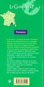 Le Guide Vert T.362 - 4ème de couverture - Format classique