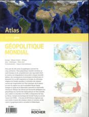Atlas géopolitique mondial 2018 - 4ème de couverture - Format classique
