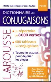 Dictionnaire Larousse des conjugaisons poche - Couverture - Format classique
