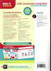 DCG 11 ; contrôle de gestion ; manuel et applications - 4ème de couverture - Format classique