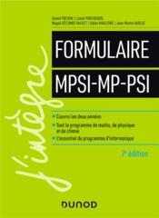 Le formulaire MPSI-MP-PSI (7e édition) - Couverture - Format classique