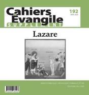 Cahiers de l'Evangile N.192 ; supplément - Couverture - Format classique