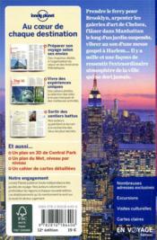 New York (12e édition) - 4ème de couverture - Format classique