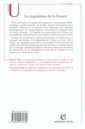 La Population De La France ; 6e Edition - 4ème de couverture - Format classique