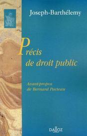 Précis de droit public - Intérieur - Format classique
