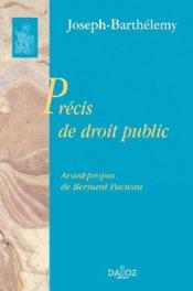 Précis de droit public - Couverture - Format classique