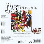 Art En Puzzle Musique - 4ème de couverture - Format classique