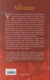 La souveraine t.2 ; impératrice orchidée - 4ème de couverture - Format classique
