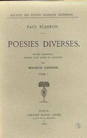 Poesies diverses - tome i - Couverture - Format classique