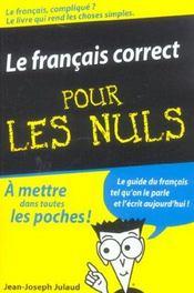 Le français correct pour les nuls - Intérieur - Format classique