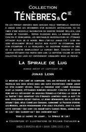 La spirale de Lug - 4ème de couverture - Format classique