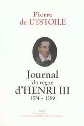 Journal Du Regne D'Henri Iii - Intérieur - Format classique