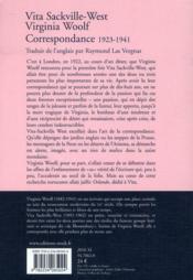 Correspondance (1923-1941) - 4ème de couverture - Format classique