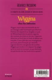 Wiggins chez les Johnnies - 4ème de couverture - Format classique