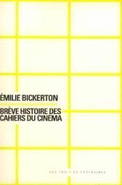 Breve Histoire Des Cahiers Du Cinema - Couverture - Format classique