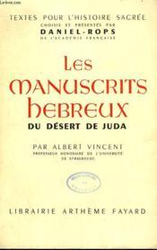 Les Manuscrits Hebreux Du Desert De Juda. - Couverture - Format classique