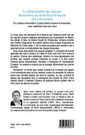 La déductibilité des charges financières en droit fiscal français des entreprises ; un système favorable à l'optimisation fiscale et financière, mais inefficace face aux abus - Couverture - Format classique