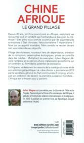 Chine Afrique ; le grand pillage - 4ème de couverture - Format classique