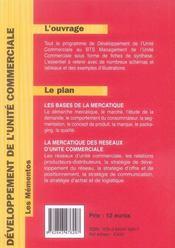 Developpement de l'unite commerciale - 4ème de couverture - Format classique