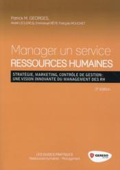 Manager un service ressources humaines (2e édition) - Couverture - Format classique