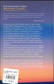 La brûlante clarté - 4ème de couverture - Format classique