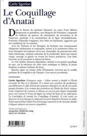 Le coquillage d'Anataï - 4ème de couverture - Format classique