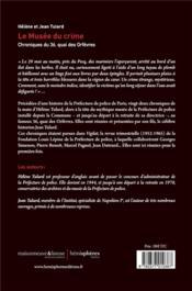 Le musée du crime ; chroniques du 36, quai des Orfèvres - 4ème de couverture - Format classique