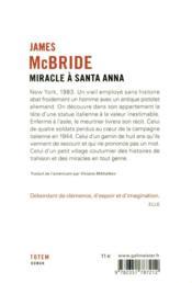 Miracle à Santa Anna - 4ème de couverture - Format classique