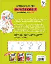 Dessine et colorie ; univers chibis - 4ème de couverture - Format classique