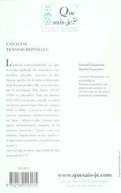 L'analyse transactionnelle (10e ed) qsj 1936 (10e édition) - 4ème de couverture - Format classique