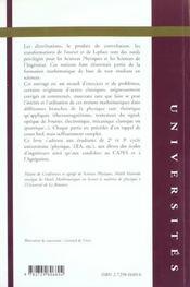 Mathematiques Pour La Physique Exercices Et Problemes Corriges - 4ème de couverture - Format classique