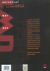 Universal war one t.6 ; le patriarche - 4ème de couverture - Format classique
