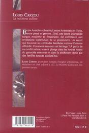 Huitieme Colline, La - 4ème de couverture - Format classique