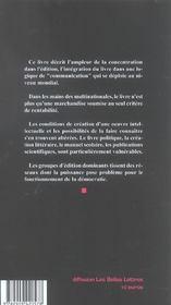 Edition Sous Influence - 4ème de couverture - Format classique