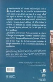L'Acier En France : Produits Et Marches De La Fin Du Xviii Siecle A Nos Jours - 4ème de couverture - Format classique