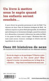 OSEZ ; 20 histoires érotiques de Noël - 4ème de couverture - Format classique