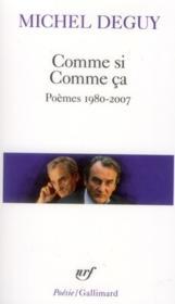Comme si comme ça (poèmes 1985-2010) - Couverture - Format classique