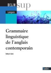 Grammaire linguistique contemporaine de l'anglais - Couverture - Format classique