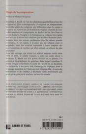 Magie de la comparaison ; et autres études d'histoire des religions - 4ème de couverture - Format classique