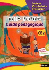 MILLE-FEUILLES ; lecture ; vocabulaire ; expression ; CE2 (édition 2015) - Couverture - Format classique