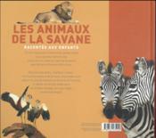 Les animaux de la savane racontés aux enfants - 4ème de couverture - Format classique