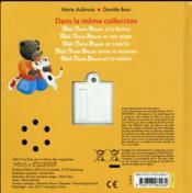 Petit Ours Brun et les animaux - 4ème de couverture - Format classique