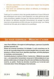 Les huiles essentielles : médecine d'avenir - 4ème de couverture - Format classique