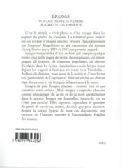 Éparses - 4ème de couverture - Format classique