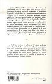 Armees Et Marines Au Temps D'Austerlitz Et De Trafalgar - 4ème de couverture - Format classique
