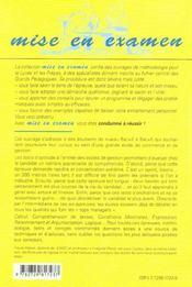 Les Tests D'Aptitude A L'Entree Des Ecoles De Gestion Calcul Expression Comprehension De Textes - 4ème de couverture - Format classique
