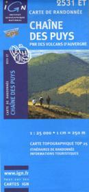 Chaine des Puys ; 2531 ET - Couverture - Format classique