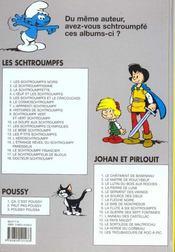 Johan et Pirlouit t.9 ; la flute à six schtroumpfs - 4ème de couverture - Format classique