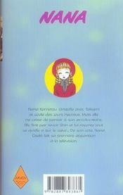 Nana t.10 - 4ème de couverture - Format classique