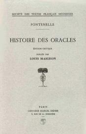 Histoire des oracles - Couverture - Format classique
